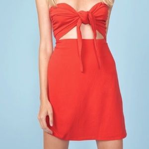 MinkPink Young Love Strapless Dress